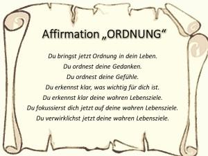 Affirmation Ordnung vision-neue-welt.com