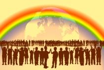 Wirklichkeits-Vision: Alle Menschen haben einander lieb