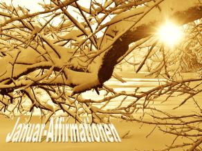 Winterbild: Januar Affirmationen