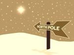 kindergeschichte Oma holt den Weihnachtsmann Wegweiser zum Nordpol