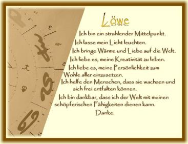 Horoskop Löwe