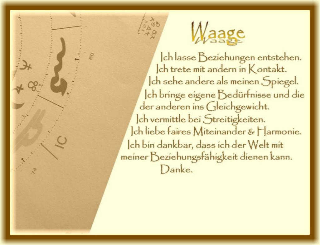 Horoskop waage single frau