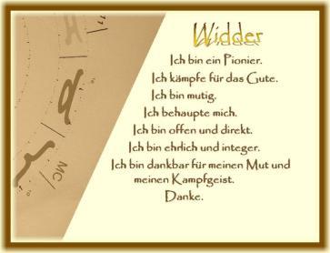 Horoskop Widder