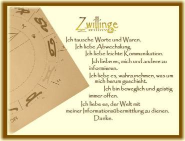 Horoskop Zwillinge