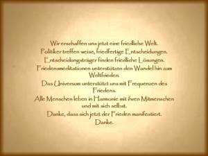 Frieden Weltfrieden vision-neue-welt.com
