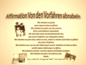 Affirmation Abnabeln von den Vorfahren