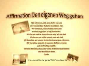 Affirmation Den eigenen Weg gehen vision-neue-welt.com