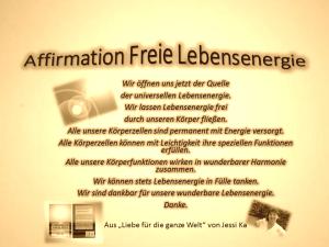Affirmation Freie Lebensenergie vision-neue-welt.com