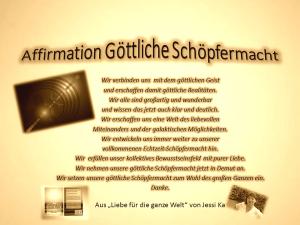 Affirmation Göttliche Schöpfermacht vision-neue-welt.com