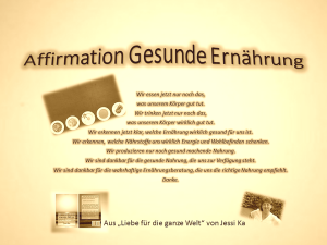 Affirmation Gesunde Ernährung vision-neue-welt.com