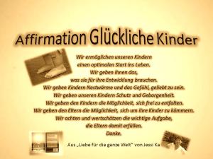 Affirmation Glückliche Kinder vision-neue-welt.com
