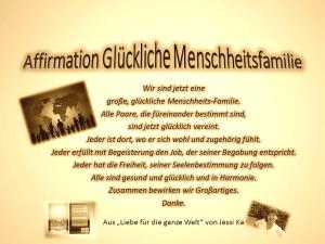 Affirmation Glückliche Menschheitsfamilie vision-neue-welt.com