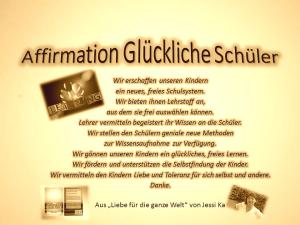 Affirmation Glückliche Schüler vision-neue-welt.com