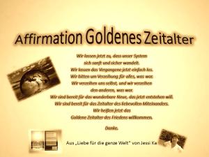 Affirmation Goldenes Zeitalter vision-neue-welt.com