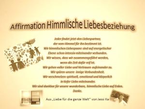 Affirmation himmlische Liebesbeziehung vidion-neue-welt.com