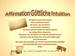 Affirmation Intuition vision-neue-welt.com