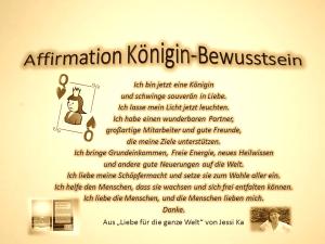 Affirmation Königin-Bewusstsein vision-neue-welt.com