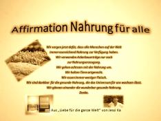 Affirmation Nahrung für alle vision-neue-welt.com