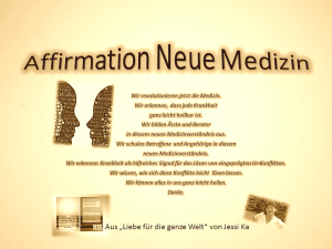 Affirmation Neue Medizin - vision-neue-welt.com