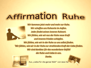 Affirmation Ruhe vision-neue-welt.com