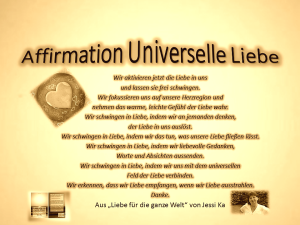 Affirmation Universelle Liebe vision-neue-welt.co
