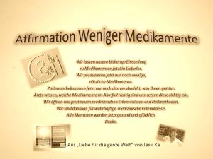Affirmation Weniger Medikamente vision-neue-welt.com